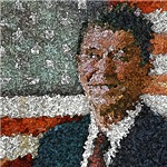 Ronald Reagan With Flag