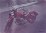 Red harley bike watercolor