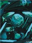 H3160 Motorcycle Watercolor