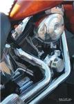 H3176 Motorcycle Watercolor