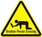 Drunk Person Crossing