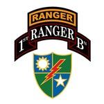 1st Ranger Bn w/Crest
