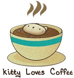 Kitty Loves Coffee (w & w/o text)