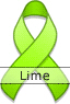 Lime Green Ribbon for Lyme Disease Awareness