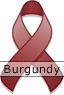 Burgundy Awareness Ribbon