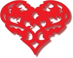 Filligree Love Heart Design