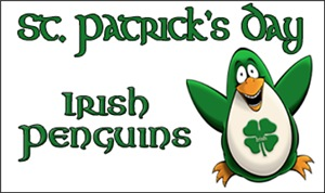 St. Patrick's Day Penguins