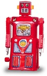 Red Machineman Tin Robot