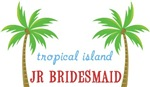 Destination Tropical Island Wedding Jr. Bridesmaid