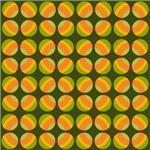 Green and Orange Polka Dots