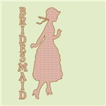 Victorian Silhouette Bridesmaid Gifts and T-Shirts