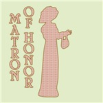 Victorian Silhouette Matron of Honor Gifts