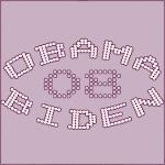 Purple Chic Dots Obama-Biden 08