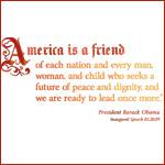 America is a Friend Tee Shirts