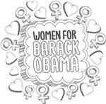 Black and White Inked Women for Obama Inked Shirts