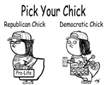 Politcal Chicks Blue &Red