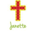 Janette Bubble Cross