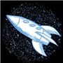 Blue Spaceship t-shirts and gifts