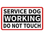 Service Dog Working Please Do Not Touch