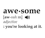Definition of Awesome You're Looking at it