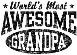 World's Most Awesome Grandpa t-shirts
