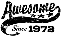 Awesome Since 1972 t-shirt