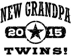 New Grandpa Twins 2015 t-shirt