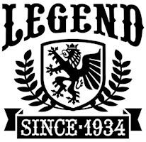 Legend Since 1934 t-shirts