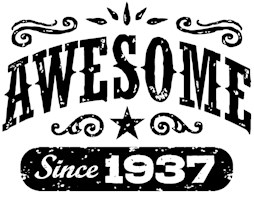 Awesome Since 1937 t-shirts