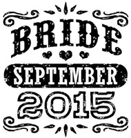 Bride September 2015 t-shirt