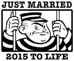 Just Married 2015 t-shirt