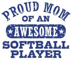 Proud Softball Mom t-shirts