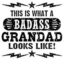 Badass Grandad t-shirts