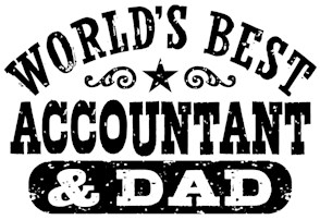 World's Best Accountant and Dad t-shirts