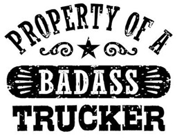 Property of a Badass Trucker t-shirts