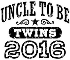 Uncle To Be Twins 2016 t-shirt