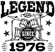 Legend Since 1976 t-shirts