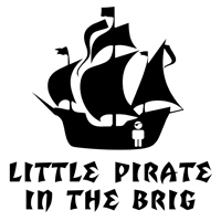 Little Pirate in the Brig t-shirt