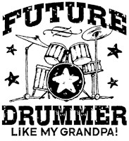 Future Drummer Like My Grandpa t-shirt