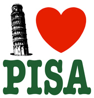 I Love Pisa t-shirt