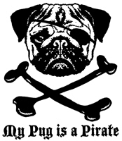 My Pug Is a Pirate t-shirt