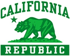 Green California Republic t-shirts