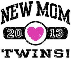 New Mom Twins 2013 t-shirt