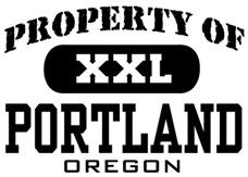 Property of Portland Oregon t-shirts