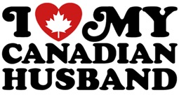 I Love My Canadian Husband t-shirts