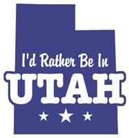 I'd Rather Be In Utah t-shirts