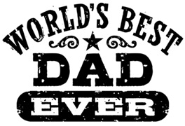 World's Best Dad Ever t-shirts
