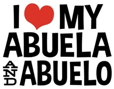 I Love My Abuela and Abuelo t-shirts
