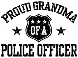 Proud Grandma of a Police Officer t-shirts