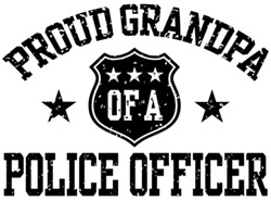 Proud Grandpa of a Police Officer t-shirts